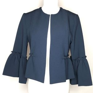 Topshop Open Front Bell Sleeve Cropped Jacket